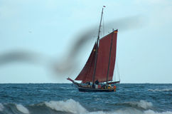 老风帆船 库存照片