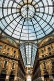 老风景galeria在米兰意大利 库存图片