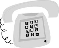 老风格化电话 向量例证