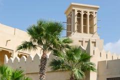 老风耸立,阿拉伯建筑学,迪拜,阿拉伯联合酋长国 图库摄影