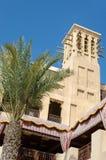 老风耸立,阿拉伯建筑学,迪拜,阿拉伯联合酋长国 免版税库存照片