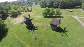 老风车在切尔诺夫策,乌克兰 免版税图库摄影