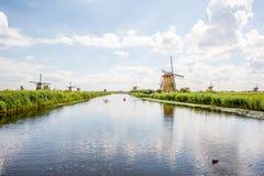 老风车在荷兰 免版税图库摄影