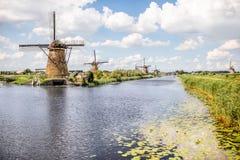 老风车在荷兰 库存照片