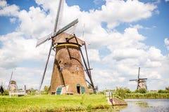 老风车在荷兰 库存图片