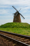 老风车在Bagimajor,匈牙利 免版税库存照片