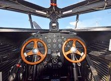 老飞机内部 库存图片