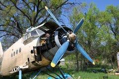 老飞机 免版税库存照片