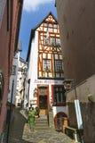 老餐馆在科赫姆,德国,社论 库存照片