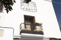 老马尔韦利亚城镇厅太阳海岸的安达卢西亚,西班牙 库存图片