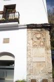 老马尔韦利亚城镇厅太阳海岸的安达卢西亚,西班牙 免版税图库摄影