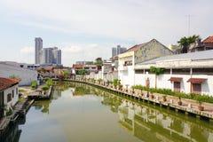 老马来西亚镇的历史部分 免版税库存图片