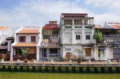 老马来西亚镇的历史部分 免版税图库摄影
