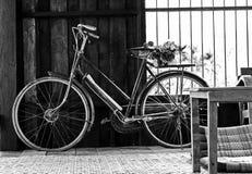 老骑自行车 免版税库存照片