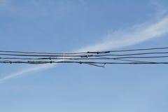 老高压电缆 免版税库存图片
