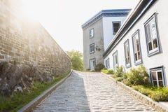 老魁北克的街道 免版税库存照片