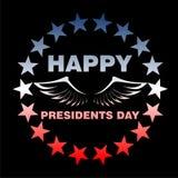 老鹰乐队在美国国旗的颜色- Day总统飞过 免版税库存照片