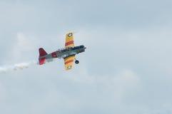 2014年老鹰乐队飞行表演葡萄酒推进器飞机汇聚  免版税库存图片