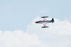 老鹰乐队Airshow加拿大人的T-33银星勋章汇聚  免版税库存图片