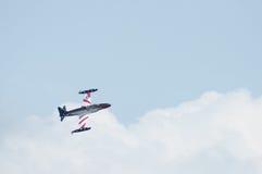 老鹰乐队Airshow加拿大人的T-33银星勋章汇聚  免版税库存照片