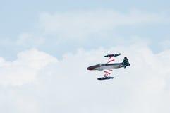 老鹰乐队Airshow加拿大人的T-33银星勋章汇聚  库存图片