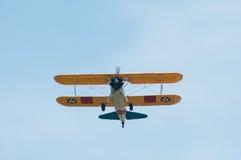 老鹰乐队Airshow波音PT-13D Stearman汇聚  库存照片