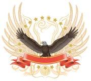 老鹰传播翼 免版税图库摄影