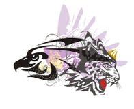 老鹰和豹子标志 免版税库存图片