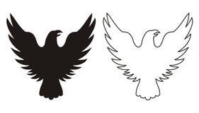 老鹰图标 免版税库存照片