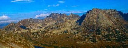 老鹰在高Tatras山的足迹山顶看法  免版税库存照片
