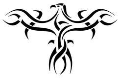 老鹰埃及人象形文字的纹身花刺 库存照片