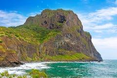 老鹰岩石, Penha de Aguia,马德拉岛 免版税图库摄影