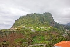 老鹰岩石, Penha de Aguia,马德拉岛 图库摄影