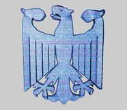 老鹰德语 免版税库存照片