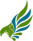 老鹰徽标 向量例证