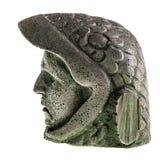 老鹰战士头外形 免版税库存图片