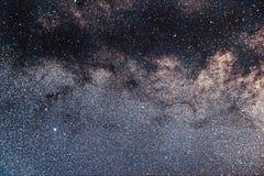 老鹰星座美丽的夜空 银河天鹰座conste 库存图片