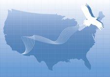 老鹰映射风格化美国 免版税库存图片