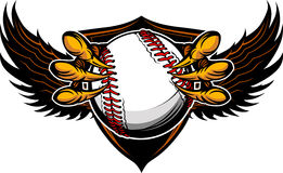 老鹰棒球爪和爪例证 库存图片