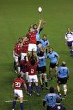 老鹰比赛国家橄榄球乌拉圭美国与 图库摄影