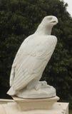老鹰由石头制成 免版税库存图片
