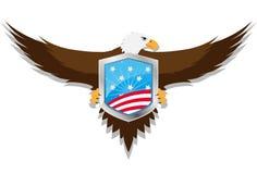 老鹰盾美国 免版税库存图片