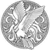 老鹰纹章徽章 标签,象征 向量例证