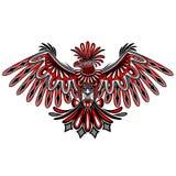 老鹰纹身花刺样式海达族人艺术 免版税库存照片
