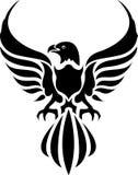 老鹰纹身花刺 库存照片