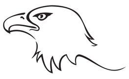 老鹰纹身花刺 库存图片