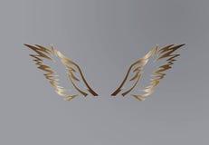 老鹰翼传染媒介设计 库存照片
