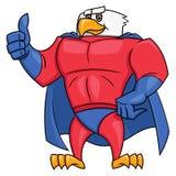 老鹰超级英雄赞许姿态2 免版税图库摄影