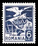 老鹰运载的徽章,serie,大约1929年 库存照片