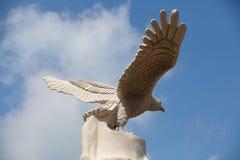 老鹰雕象在台湾 免版税库存照片